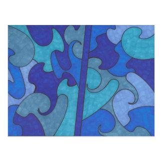 Atlantis Abstract Postcard
