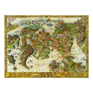 Atlantis Center of the Ancient World Poster
