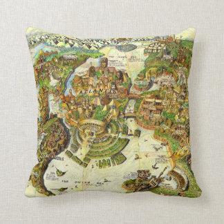 Atlantis Center of the Ancient World Throw Pillow