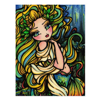Atlantis City Mermaid Fantasy Art Girl Postcard