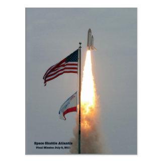 Atlantis Final Liftoff July 8, 2011 Postcard