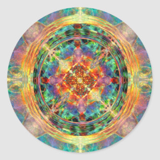Atlantis inspired Rainbow Mandala Classic Round Sticker