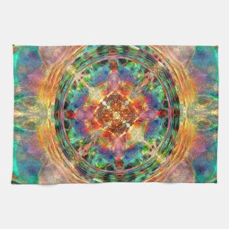 Atlantis inspired Rainbow Mandala Hand Towel