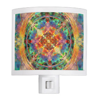Atlantis Inspired Rainbow Mandala Night Light