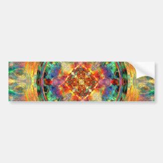 Atlantis-Inspired Rainbow Mandala Sacred Geometry Bumper Sticker
