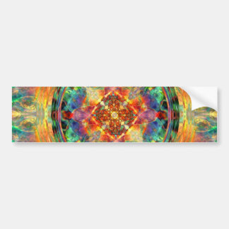 Atlantis-Inspired Rainbow Mandala Sacred Geometry Car Bumper Sticker
