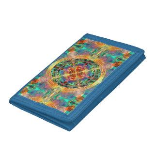 Atlantis-Inspired Rainbow Mandala Sacred Geometry Tri-fold Wallet