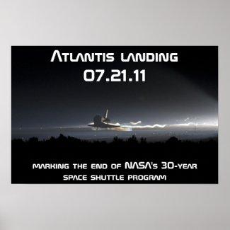 Atlantis landing 07.21.11 print