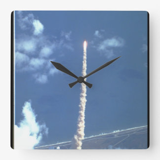 Atlantis Launch_Space Square Wall Clock
