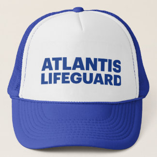 ATLANTIS LIFEGUARD fun slogan trucker hat