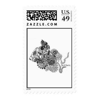 """""""Atlantis Preying Mantis"""" Stamp"""