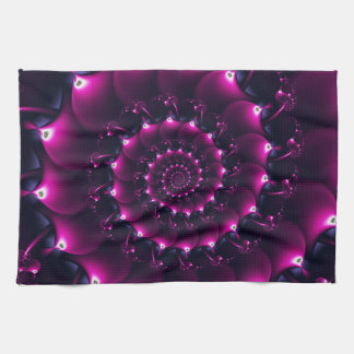 Atlantis seashell (purple) hand towels
