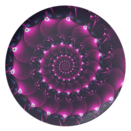 Atlantis seashell (purple) melamine plate