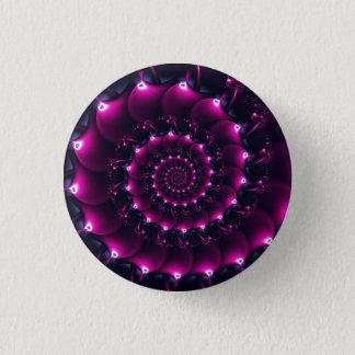 Atlantis seashell (purple) pinback button