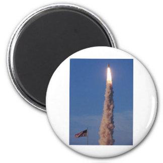 Atlantis Space Shuttle 2 Inch Round Magnet