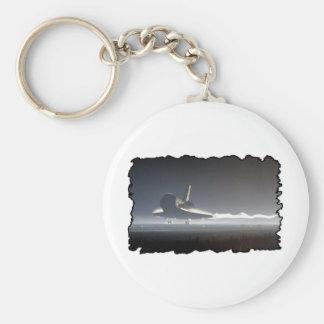 Atlantis Space Shuttle) Basic Round Button Keychain