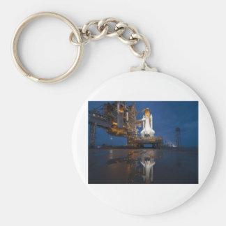 Atlantis Space Shuttle Basic Round Button Keychain