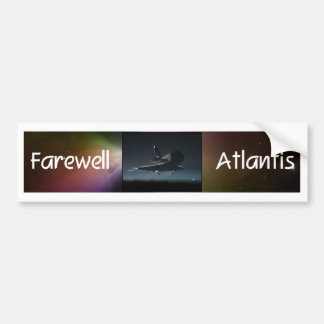 Atlantis Space Shuttle Bumper Sticker
