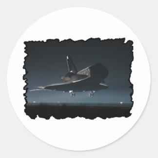 Atlantis Space Shuttle) Classic Round Sticker