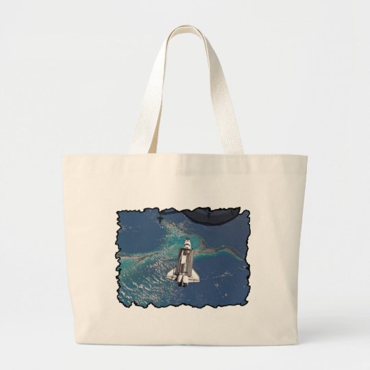 Atlantis Space Shuttle Large Tote Bag