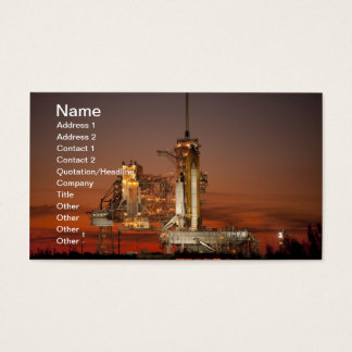 Atlantis Space Shuttle launch NASA Business Card