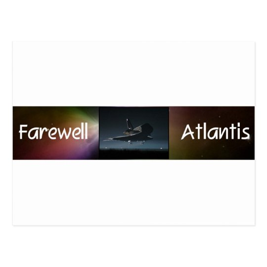Atlantis Space Shuttle Postcard