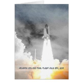 Atlantis Space Shuttle STS-135 Last Flight Cards