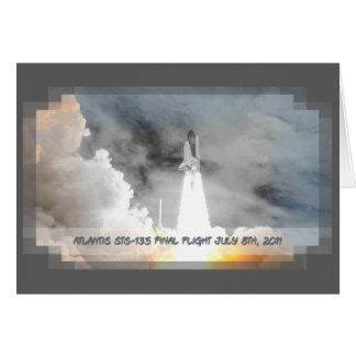 Atlantis Space Shuttle STS-135 Last Flight Card