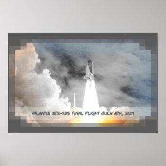 Atlantis Space Shuttle STS-135 Last Flight Poster