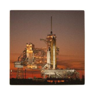 Atlantis Space Shuttle Wooden Coaster