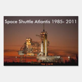 Atlantis Space Shuttle Lawn Signs