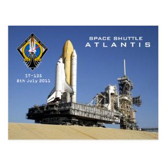 Atlantis -the final flight postcard