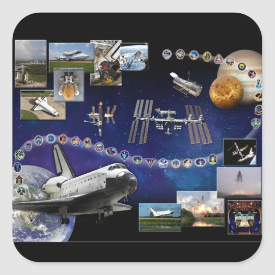 Atlantis Tribute Square Sticker