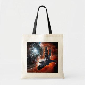 Atlantis with Hubble Tote Bag