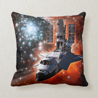Atlantis with Hubble Throw Pillow