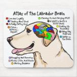Atlas amarillo del cerebro de Labrador Tapete De Ratones