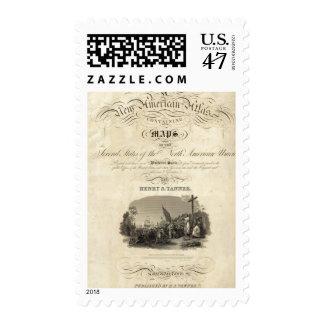 Atlas americano de la página de título nuevo timbre postal