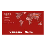 Atlas arenoso rojo tarjetas personales