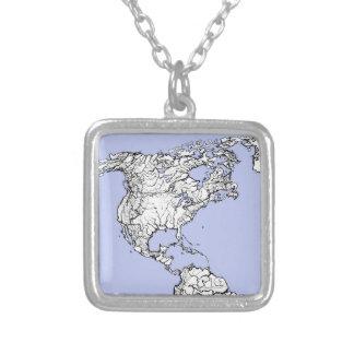 atlas azul claro colgantes personalizados