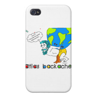 Atlas Backache-Light Background Text Cover For iPhone 4