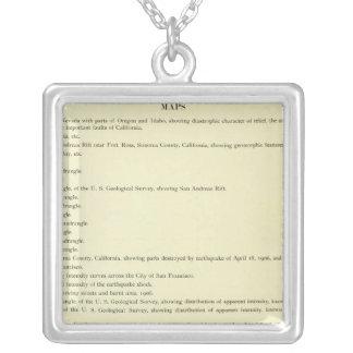 Atlas California earthquake, April 18, 1906 Silver Plated Necklace