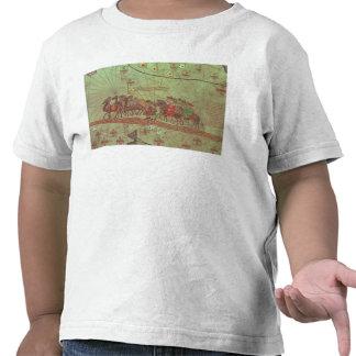 Atlas catalán, demostración del detalle camisetas