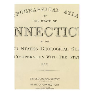 Atlas Connecticut del Topo de la página de título Postal