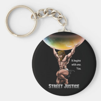 Atlas Conquers All by Street Justice Keychain