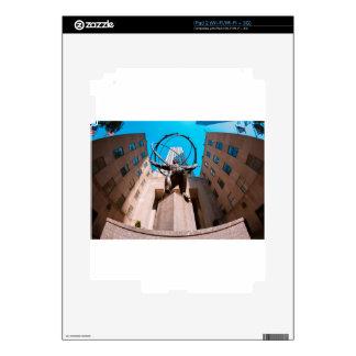 Atlas cubierto por la plaza de 30 Rockefeller iPad 2 Calcomanías