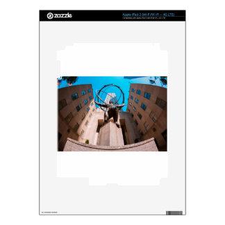 Atlas cubierto por la plaza de 30 Rockefeller Pegatinas Skins Para iPad 3