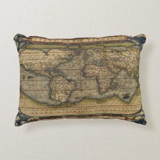 Atlas de la antigüedad del mapa del mundo del cojín decorativo