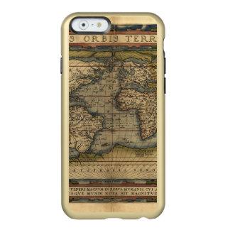 Atlas de la antigüedad del mapa del mundo del funda para iPhone 6 plus incipio feather shine