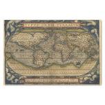 Atlas de la antigüedad del mapa del mundo del papel de seda pequeño