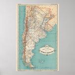 Atlas de la Argentina Póster